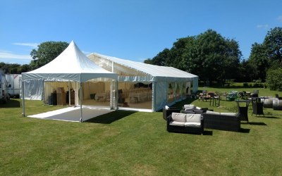 pagodas make great entrances to your main marquee