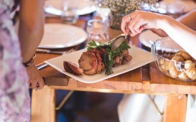 Wedding food: sharing platters menu