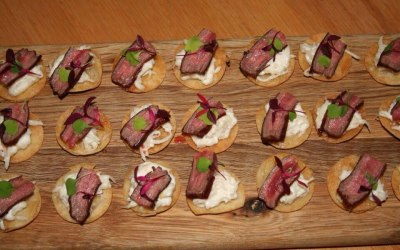 Canapes by TML 'food + cuisine'.