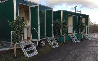 View of 1+1 & 2+1 Luxury toilet trailers