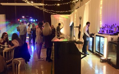 Black gloss bar at a 6th form winter ball