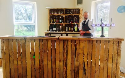 Wooden rustic bar