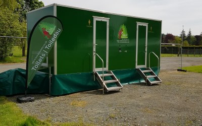 A luxury toilet unit a Royal Welsh Showground