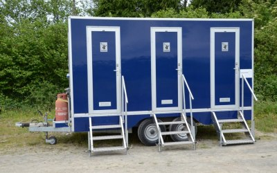 Our 4 person LPG Shower Trailer