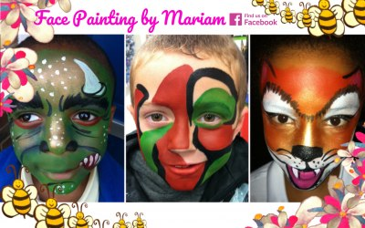 Boys face painting, birthday parties