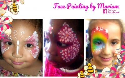 Girls face painting, birthday parties