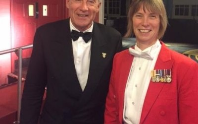 With Brooklands Museum Trustee Tiff Needell