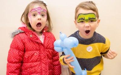 Princess and superhero face paint
