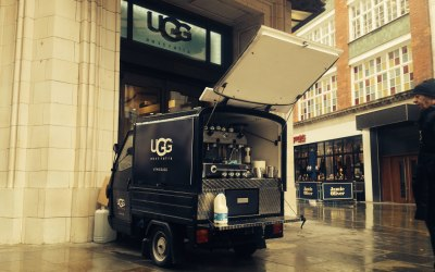 Mobile coffee van branding