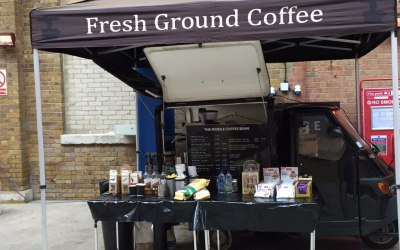 Mobile coffee van markets