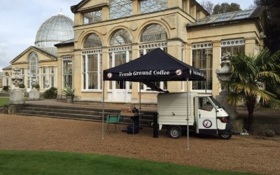 Mobile coffee van weddings