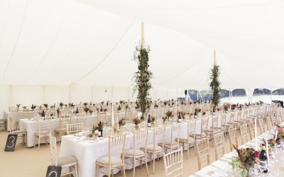 Traditional Petal pole marquee