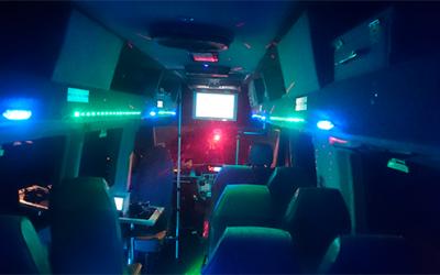16 seat disco bus