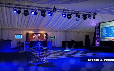 Marquee lighting and sound in Cumbria and Lancashire
