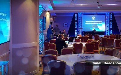 Audio visuals for roadshows and events in Cumbria and Lancashire