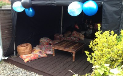 6x3 gazebo chill out space