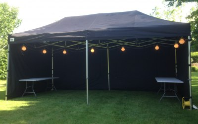 6x3 gazebo in black