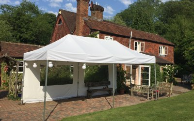 6x3 gazebo in white