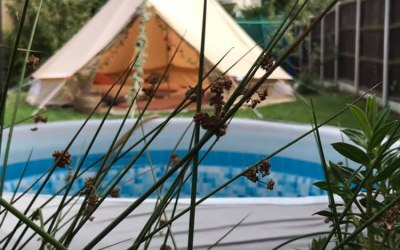 Bell Tent & Hot Tub Combo
