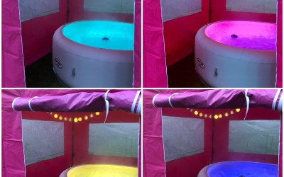 4 out of 7 of the fab colours in our Light up Hot tub