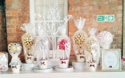 Candy trees - great centrepieces. Prices start from £20