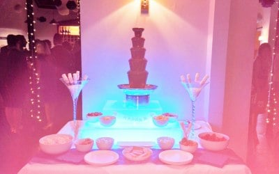 Chocolate fountain with light base - prices start at £195