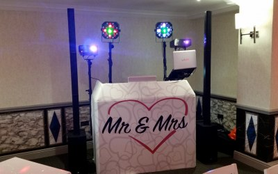 Slightly Larger Wedding Setup With Twin Speakers.