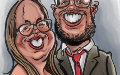 Wedding caricature example