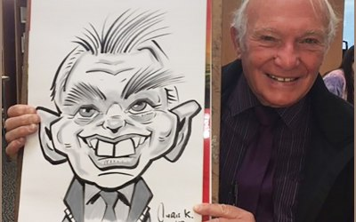 This is an example of my live caricature work