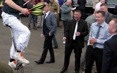 Juggler on a Unicycle Ayr races