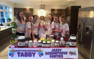 Jazzy Scrumptious Parties Mobile Creperie for a teenage birthday party