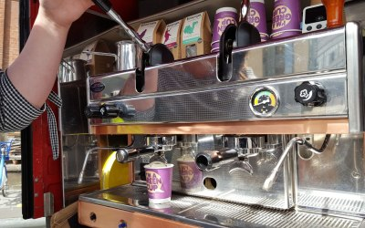 Our hand pulled coffee machine