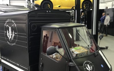 The Badger at a corporate event for Lamborghini