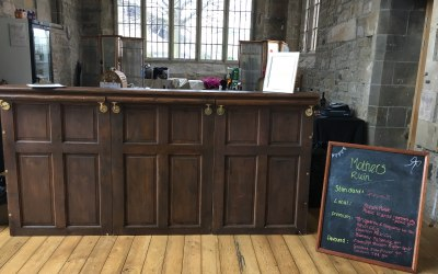 Albert our original dark wood vintage bar at St Marys Heritage Centre