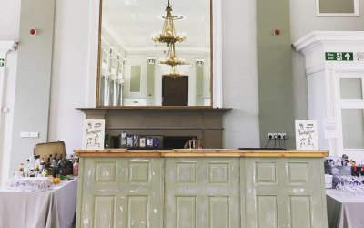 clementine our shabby chic bar at Northumberland Hall Alnwick