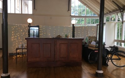 Victoria dark wood vintage style bar at Hexham Winter Gardens