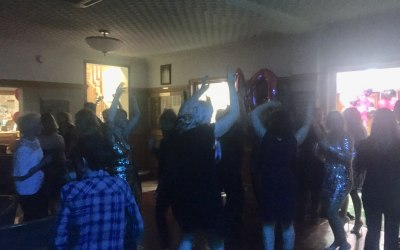 Busy dance floor for a 40th Birthday at Hesketh Golf Club, Southport