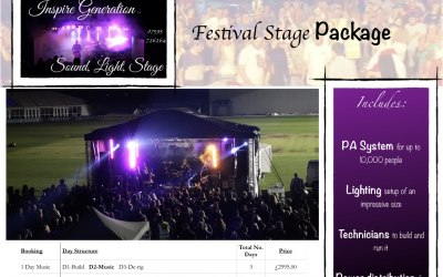 Festival Stage Packages