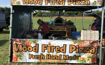 3m x 3m Gazebo with Mobile wood fired oven
