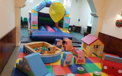 Peppa pig Bouncy castle & Soft play