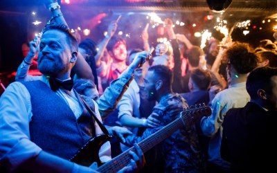 Guitars and live music. Hire a band