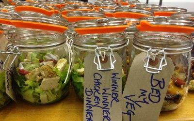 Dress your own salad pots