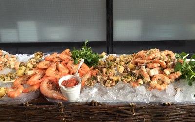 Decadent seafood display