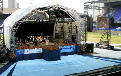 Large stage, sound and lighting