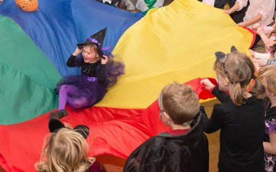 Parachute games, bubbles and lots more party activities