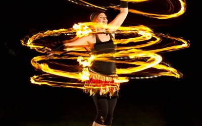Three Fire Hula Hoops