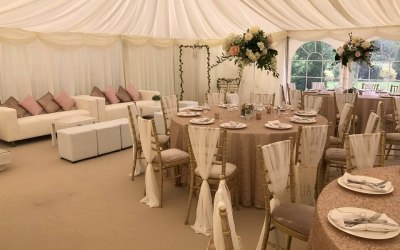 Country Themed Wedding Marquee