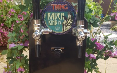 Two of the choices of Local Craft beer on Draught, other craft beers and lager are also available