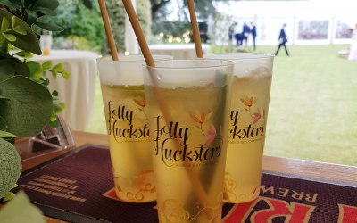 Refreshing English Garden cocktail for the Bridesmaids