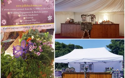 """Double bar, both in marquee and outside tent setup """")"""